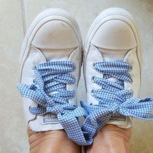Converse chucks/white slip sneakers 10M